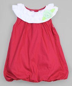 Loving this Red Rosette Yoke Dress - Infant & Toddler on #zulily! #zulilyfinds