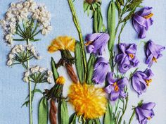 Silk ribbon embroidery kit Fragrance of spring
