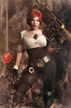 "Sargeant Alex Brand is a tough-as-nails red-haired COG who has grown quite a following. Cosplayer and model Maria ""MarieDoll"" Ramos from Houston"