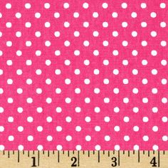 Premier Prints Dottie Candy Pink/White from @fabricdotcom  Screen printed on cotton duck; this versatile medium weight fabric is perfect for window treatments (draperies, valances, curtains and swags), toss pillows, duvet covers and upholstery. Get creative with tote bags and aprons! *Use cold water and mild detergent (Woolite). Drying is NOT recommended - Air Dry Only - Do not Dry Clean. Colors include white on a candy pink background.
