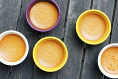 In this recipe for Salted Caramel Pots de Creme, a quick caramel made with white sugar and sea salt is mixed with eggs, cream, milk and sugar then baked into a rich, creamy custard