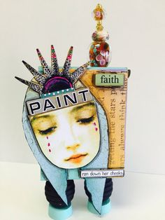 Artist Trading Block ATB Mixed media Art Collage by IMGirl on Etsy
