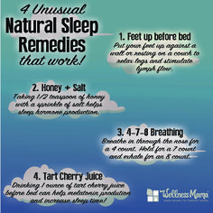Struggling with getting enough shut-eye? Four kinda different things to try here: #sleep