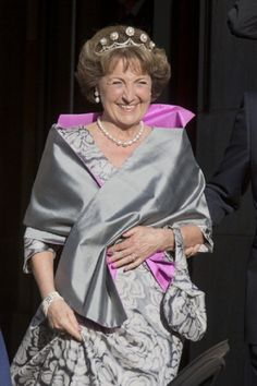 Princess Margriet of the Netherlands attends the 2013 Royal-dinner hosted by Queen Beatrix of The Netherlands ahead of her abdication