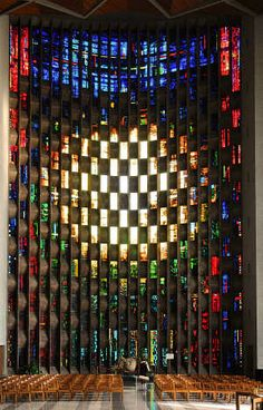 Coventry - The Baptistery Window in the New Cathedral, designed by John Piper.