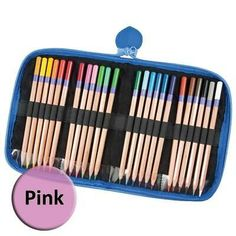 Smoothly finish your latest coloring book in style! These brilliant colors are ideal for drawing, coloring and more. Comes with a brilliant blue foam-lined zippered case so you can take your coloring with you! Art Supplies Storage, Art Storage, Crystal Light Containers, Eagle Craft, Backpack Storage, Marker Storage, Zipper Pencil Case, Arts And Crafts Storage, Pencil Organizer