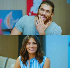 Yaman and Özdemir - Collage Turkish Men, Turkish Actors, Wavey Hair, Finding Dory, Romance Movies, Early Bird, Favorite Tv Shows, Couple Goals, Movies And Tv Shows