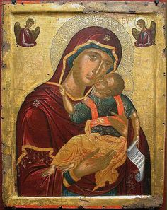 Икона «Сладкое Лобзание» (по-гречески Гликофилуса) прославилась в царствование греческого императора-иконоборца Феофила (829–842).