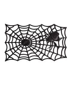 Look at this #zulilyfind! Spider Web Rubber Mat by Evergreen #zulilyfinds