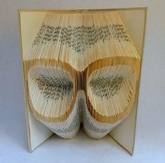 SUN GLASS Folded Book  - Paper Art - Cool gift - Thug life - Yolo -  Housewarming Gift - Home Decor - Book Origami - E212