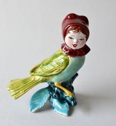 Kitschy Singing Bird Sculpture