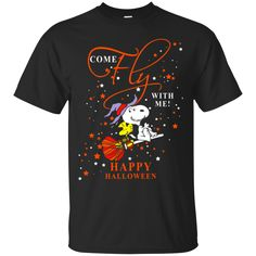 Halloween Snoopy T shirts Come Fly With Me Hoodies Sweatshirts