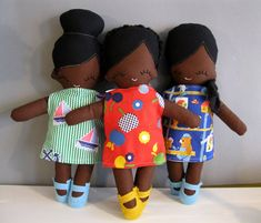 OHGAAAAA!   Rag Doll African American Cloth Doll Plush by rileyconstruction, $55.00