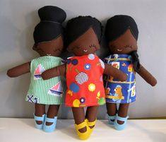 OHGAAAAA!   Rag Doll African American Cloth Doll Plush by rileyconstruction, $55.00