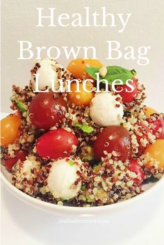 Healthy lunch ideas - pack and go.