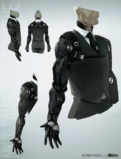 cyberpunk looking prosthetics