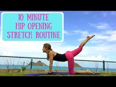 10 Minute Hip Opening Stretch Workout - Yoga and Pilates - YouTube