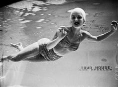 Aqua Maiden, pool of L.A.'s Town House Hotel, 1951
