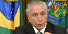 """Top News: """"BRAZIL POLITICS: Temer Slams Rise in Nationalism, Protectionism"""" - https://i1.wp.com/politicoscope.com/wp-content/uploads/2016/06/Michel-Temer-Brazil-Politics-News-Now.jpg?fit=1000%2C502 - Conservative Temer, who replaced leftist President Dilma Rousseff last year after a controversial impeachment, faces strong opposition himself amid corruption charges.  His government's approval has plummeted according to a public opinion poll published on Tuesday.  on Politi"""