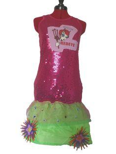 Upcycled Retro Punky Sequin Raver Dress by FeedTheDogCreations