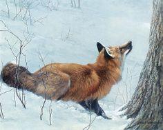 "Robert Bateman ""Game Over - Fox And Maple"" 2007"