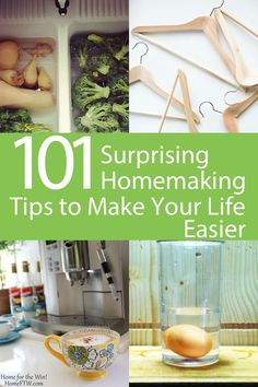 101 Surprising Homemaking Tips to Make Your Life Easier | Homemakers know the drill. Endless tasks piling up on each other, right? We go from one thing to the next and before we know it, the whole entire day is gone.  Here's a collection of 101 *surprising* homemaking tips to make your life easier -- from cleaning and laundry hacks to cooking shortcuts to keeping up with clutter. | HomeFTW.com