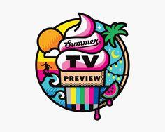 Entertainment Weekly Summer TV Preview – Matt Lehman Studio design illustration typography color ice cream