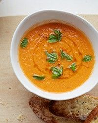 Summery fresh tomato soup from  Food & Wine Magazine, September 2013 by Grace Parisi