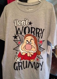2b4a2ca4e Grumpy Short Sleeve T-shirt 2X - NWT Disney Snow White Dwarfs, Grumpy Dwarf