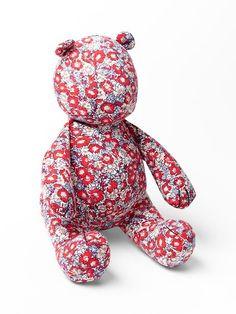 Sooo cute!  Printed bear toy by GAP