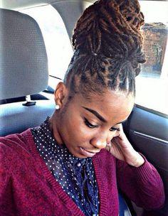 Stupendous Updo The Beauty And Locs On Pinterest Short Hairstyles For Black Women Fulllsitofus