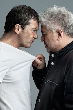 Antonio Banderas and Pedro Almodóvar by André Rau, 2011