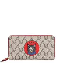 Gg Supreme Canvas And Leather Wallet - Gucci | mytheresa