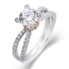 BENARI Passion Collection Twist Diamond Engagement Ring