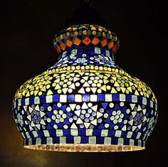 Vintage Ceiling Light Pendant Lamp Light Decor Tiffany Hanging Lamp 26 in Home, Furniture & DIY, Lighting, Ceiling Lights & Chandeliers | eBay