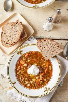 Egyszerű lencsegulyás recept | Street Kitchen Chana Masala, Eat, Ethnic Recipes, Food, Drink, Beverage, Essen, Meals, Yemek