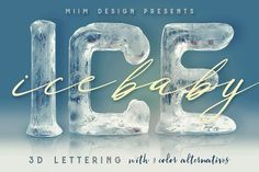 Ice Ice Baby - 3D Lettering - Graphics Hi-res 3D scratched ice letter renders (3000x3000 - but letter size is around 1500x2000). Great for your headers, posters, advertisments - any web or print projects. You'll find here also layered PSD file with 10 effets (shadows, effects...) - just replace letter in smart object and you'll see letter in all 10 effects.
