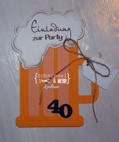 Material Und Ideen Für Einladungskarten, Tischkarten, Menükarten,  Dankekarten, Karten Zum Selber Basteln. Einladung Zum 40 GeburtstagKreative  ...