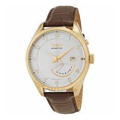 WIZWID:위즈위드 - [Seiko:세이코] Kinetic White Dial Brown Leather Mens Watch Srn052