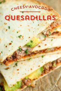 Plan to make a double batch of these tasty Cheesy Avocado Quesadillas from @damndelicious!  These easy quesadillas are packed with crumbled ground beef, taco seasoning, diced green chiles, creamy refried beans, mozzarella cheese and fresh avocado... this recipe is sure to please! Ready in just 30 minutes!