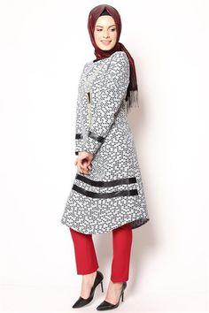 Ay Giyim Tesettür Tunik Şeritli 01 1636