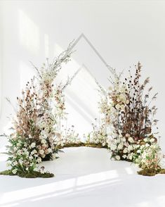 Modern floral arbor in 2020 (With images) Wedding Ceremony Decorations, Ceremony Backdrop, Wedding Backdrop Design, Wedding Mandap, Wedding Receptions, Wedding Ideas, Wedding Arch Flowers, Floral Wedding, Lustre Floral