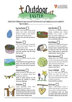 10 activities to complete over Easter. Have fun, discuss faith together and learn new things. Easter Scavenger Hunt, Seed Bombs, About Easter, Easter Activities, Activity Sheets, Home Schooling, New Things To Learn, Have Fun, Pentecost