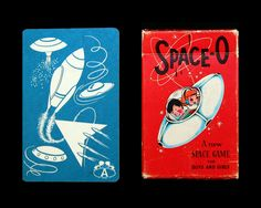Vintage 1950s Space O Card Game, Complete Deck of 40 Cards and Original Box. $24.95, via Etsy.