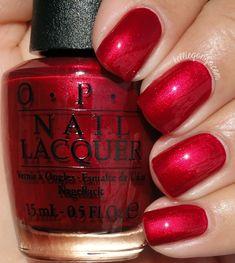 OPI Ro-Man-ce On The Moon // @kelliegonzoblog Fancy Nails, Cute Nails, Pretty Nails, Nail Polish Hacks, Opi Red Nail Polish, Opi Nail Colors, Nail Lacquer, Colorful Nail Designs, Nagel Gel