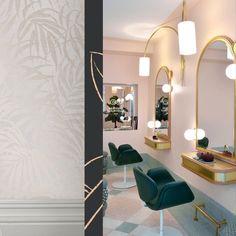 Projet: the Nana HairSalon Salon Interior Design, Beauty Bar, Decoration, Decor Ideas, Retail, Studio, Friends, Nails, House