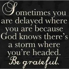 Gods protection from the storm