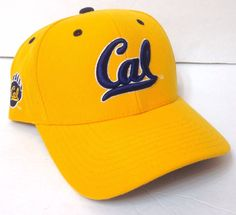 "New ""CAL"" UC BERKELEY HAT Yellow&Blue Script WOOL Golden Bears Men/Women OSFM #ColosseumAthletics #CalBears"