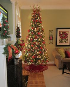 Skinny Christmas tree...