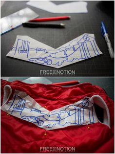 Free Motion Fan Art - quilting your own designs to personalize your kids clothing! A Free Notion Tutorial for Crafting Con Quilting Tutorials, Quilting Projects, Sewing Tutorials, Art Quilting, Craft Projects, Sewing Patterns Free, Free Pattern, Sewing Hacks, Sewing Tips